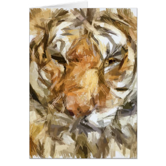 Tiger Portrait Sketch (2012) Card