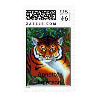 Tiger Postage Stamp