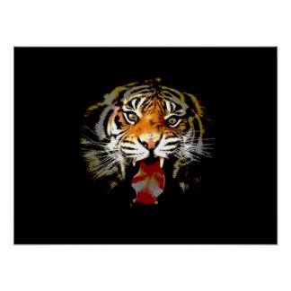 Tiger Poster Print - Pop Art Style Tigers Posters