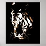 Tiger Poster Print - Tiger Face Pop Art Posters