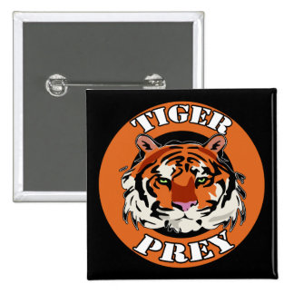Tiger Prey Biker T shirts Gifts 2 Inch Square Button