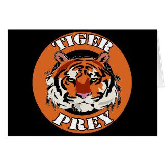 Tiger Prey Biker T shirts Gifts Greeting Cards