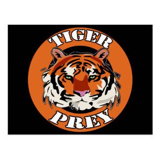 Tiger Prey Biker T shirts Gifts Postcard