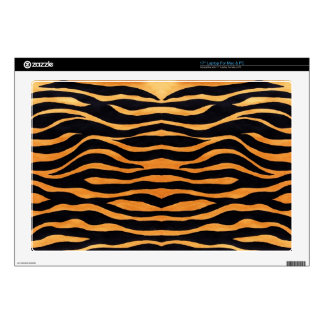 "Tiger Print 17"" Laptop For Mac & PC Skin Skins For Laptops"