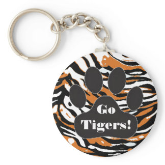 Tiger Print and Paw Keychain