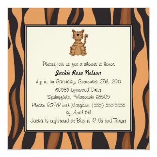 Tiger Print Baby Shower Card