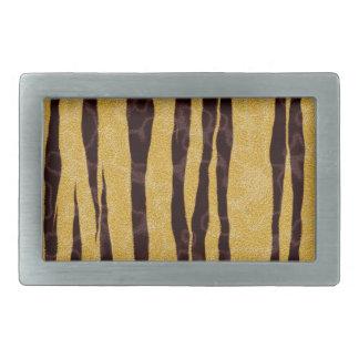 Tiger Print Rectangular Belt Buckles