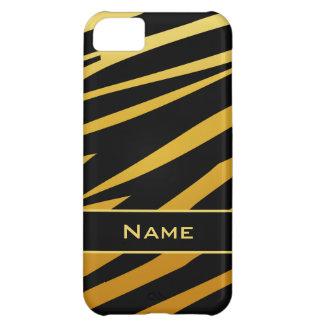 Tiger Print Black Gold iPhone 5 Case