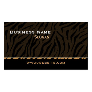 Tiger Print Black Masculine Double-Sided Standard Business Cards (Pack Of 100)