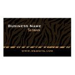 Tiger Print Black Masculine Business Cards
