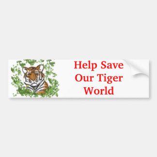 Tiger Print Bumper Sticker