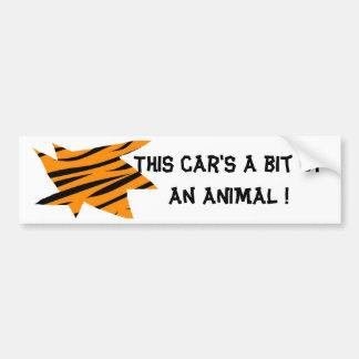 Tiger Print Bumper Sticker
