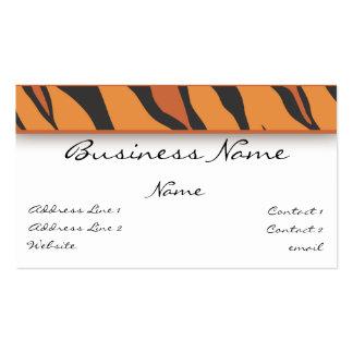 Tiger Print Business Card
