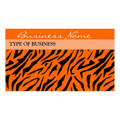 Tiger Print Business Card Template