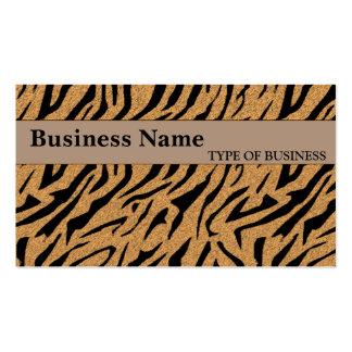 Tiger Print Business Card Template