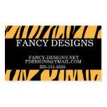 Tiger Print Business Card Templates