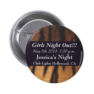 Tiger Print Pinback Buttons