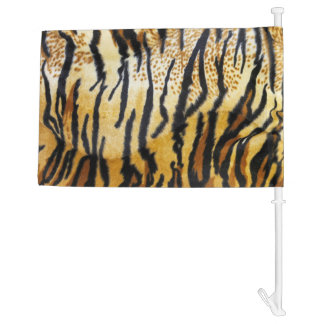 TIGER PRINT CAR FLAG