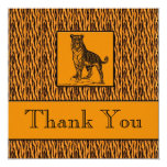 Tiger Print Executive Thank You Notes 5.25x5.25 Square Paper Invitation Card