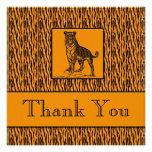 Tiger Print Executive Thank You Notes Invitations