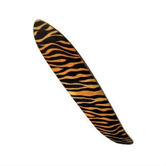 Tiger Print Golden and Black Skateboard