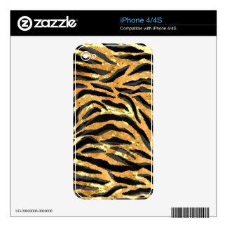TIGER PRINT iPhone Skin iPhone 4S Decals
