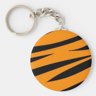 Tiger Print Keychain