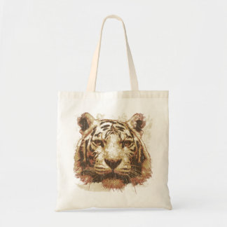 Tiger Print Light Budget Tote Bag
