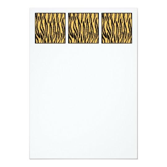 Tiger Print. Orange and Black Pattern. Card