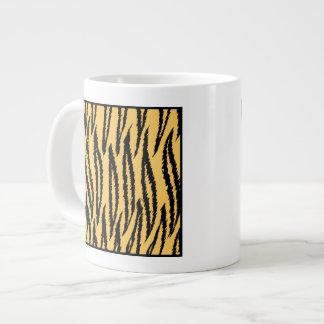 Tiger Print. Orange and Black Pattern. Giant Coffee Mug