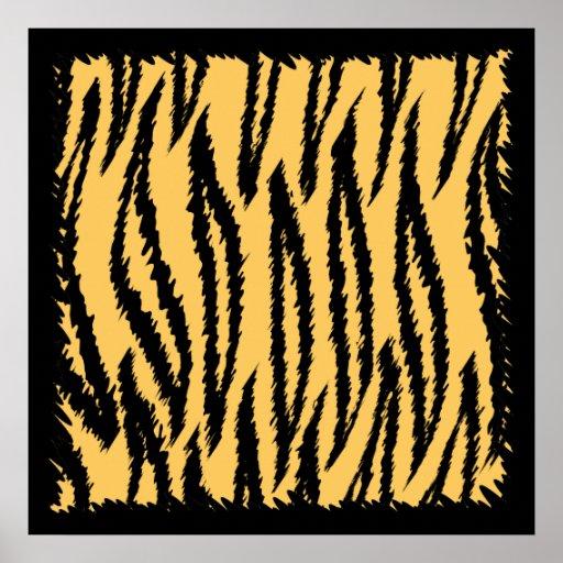 Tiger Print Pattern. Orange and Black.
