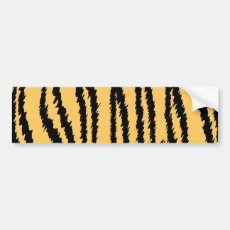 Tiger Print Pattern. Orange and Black. Car Bumper Sticker