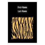 Tiger Print Pattern. Orange and Black. Business Cards