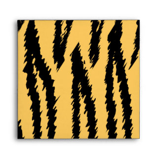 Tiger Print Pattern. Orange and Black. Envelope