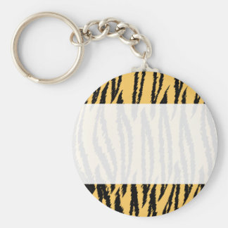 Tiger Print Pattern. Orange and Black. Key Chains