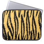 Tiger Print Pattern. Orange and Black. Computer Sleeve