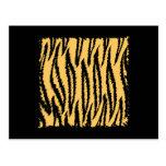 Tiger Print Pattern. Orange and Black. Postcards