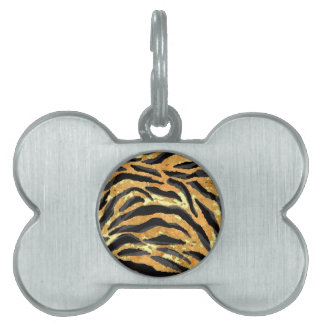 TIGER PRINT PET NAME TAG