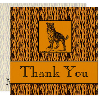 Tiger Print Professional Business Thank You Card