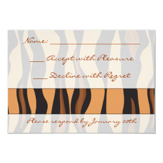 Tiger Print RSVP Card