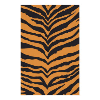 Tiger Print Customized Stationery