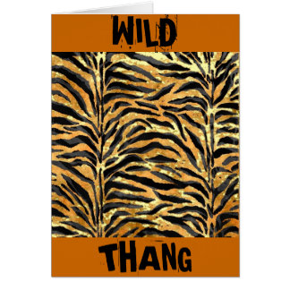 TIGER PRINT STATIONERY NOTE CARD