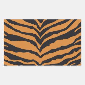 Tiger Print Rectangular Sticker