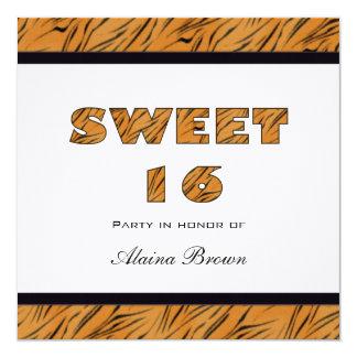 Tiger Print Sweet 16 Party Invitation