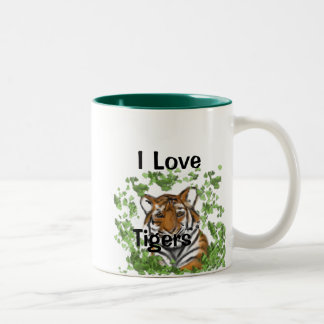 Tiger Print Two-Tone Coffee Mug