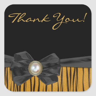 Tiger Print Wedding Favor Thank You Stickers