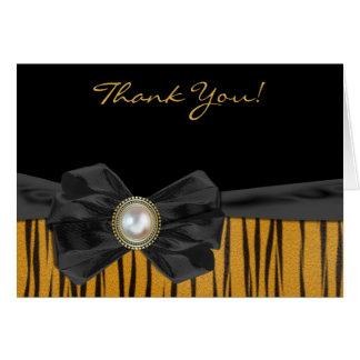 Tiger Print Wedding Thank You Card