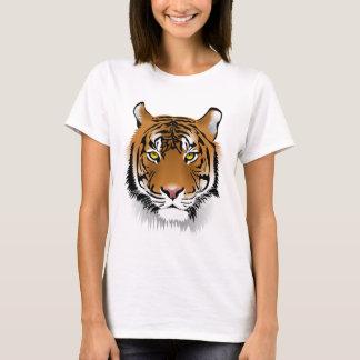 Tiger Print Women's Cotton T-Shirt