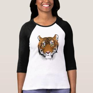 Tiger Print Women's Raglan Sleeve T-Shirt