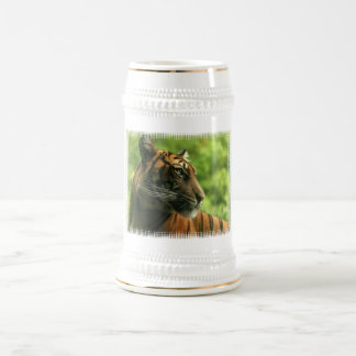 Tiger Profile Beer Stein Mugs